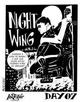Inktober day 07 - Nightwing by adagadegelo