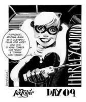 Inktober day 09 - Harley Quinn by adagadegelo