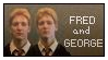 Fred and George Stamp by renatalmar