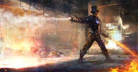 Steampunk Ironman by Kashivan