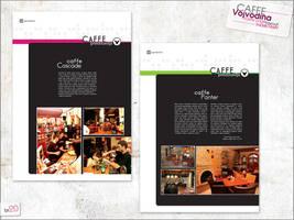 Caffe Vojvodina magazine page by themetamy