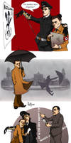 Goebbels and Himmler by rotten-vermillion