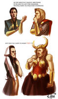 stupid Thor and Loki doodle by rotten-vermillion