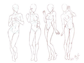 Tutorial_Female poses by ChioShin