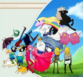 Adventure Time - Hora De Aventura by KuroiiFox