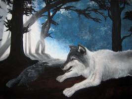 The Wolf And The Raven by NightfallSiren