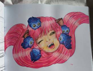 Owl Girl by NightfallSiren