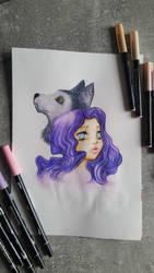 Wolf Girl by NightfallSiren