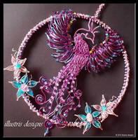 Suncatcher rising Phoenix by illustrisdesigns