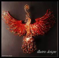 Rising Phoenix Candle Holder by illustrisdesigns