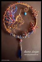 Unicorn Suncatcher by illustrisdesigns