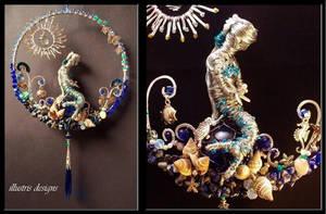 Mermaid sculpture / suncatcher by illustrisdesigns