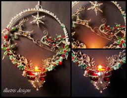Christmas Reindeer Candleholder by illustrisdesigns