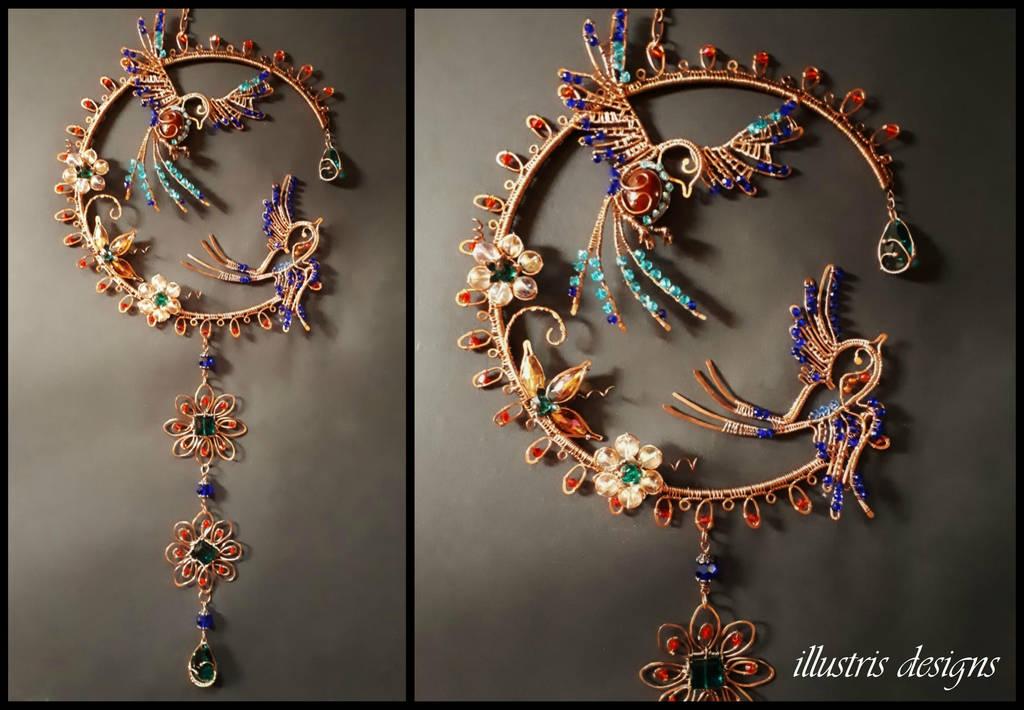 Swallow bird suncatcher by illustrisdesigns
