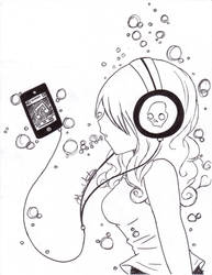 Drowning in Music by G2cutie