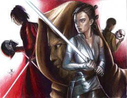 Dibujando Star Wars The Last Jedi by escorpiold