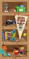 Media, Design and Dramatic Arts Shelf by EmersonWolfe