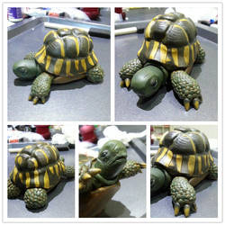 Sculpey Tortoise Finished by kirstipoo