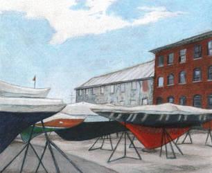Sleeping Ships of Newport by NicoPony