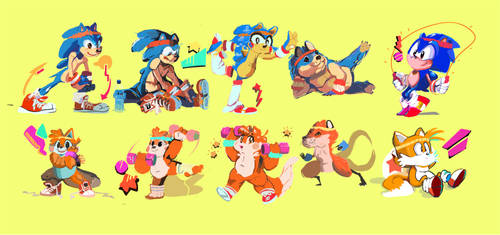 #SONIC THE HEDGEHOG | RADICAL WORKOUT by PenBee