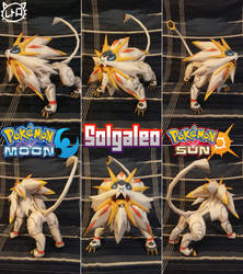 Pokemon Sun and Moon Papercraft ~ Solgaleo ~ by SuperRetroBro
