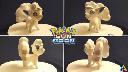 Pokemon Sun and Moon Papercraft Alola Vulpix by SuperRetroBro