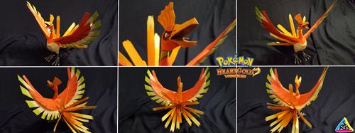 Pokemon Gold Papercraft: Ho-Oh by SuperRetroBro