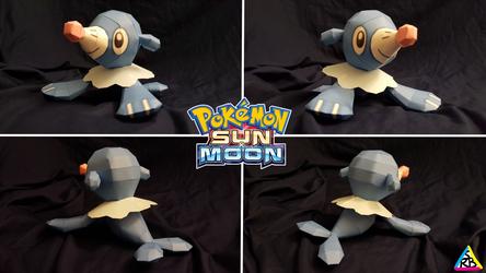 Pokemon Sun and Moon Papercraft: Popplio V2 by SuperRetroBro