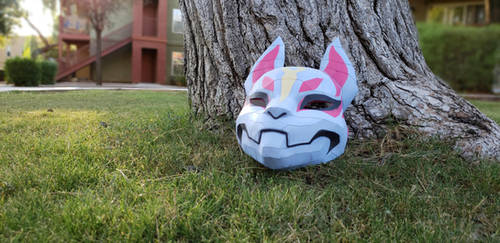 Fortnite Papercraft Life size Drift mask by SuperRetroBro