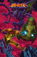 Metroid Series - Ridley and Kraid by LuisMelon