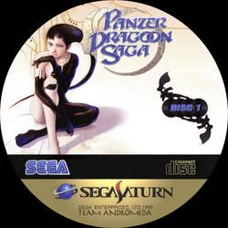 CD label Panzer Dragoon Saga disc 1 by Anarkhya
