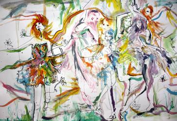 waltz of flowers by dyingrose24
