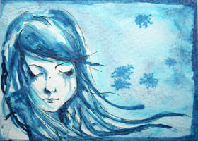 Winter winds ACEO by dyingrose24