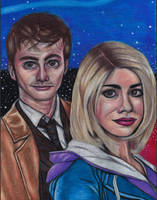 The Doctor and Rose - Galaxy Skies REDRAW. by Laurenthebumblebee