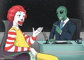 Ronald McDonald as guest in late night show by KeanuRobert