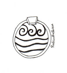 Inktober Day 23: Pendant of Katara's necklace by RubintheHorse
