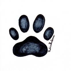 Inktober Day 24: Dog Paw Print by RubintheHorse
