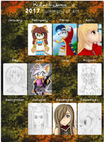 My Art Summary 2017 by RubintheHorse