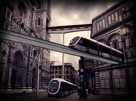A tram ride through Florence by Vashar23