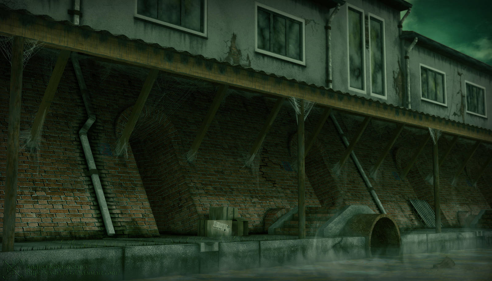 Sewer canal by Vashar23