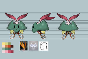 Model Sheet for My little Mosnter by pixelartkid