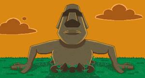 Moai by pixelartkid