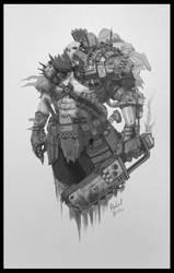 Veteran stormboy ork by PabelBilly