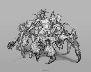 Undead Spider Rider by PabelBilly