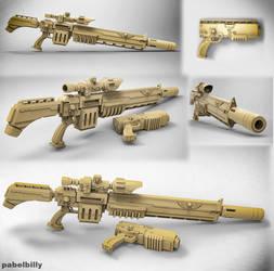warhammer vindicare assassin gun by PabelBilly