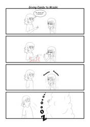 Giving Candy to Mizaki by Son23