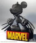 Disney Marvel Mickey wolverine by HelberS