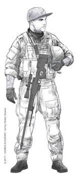 Fox - SK.CS Team (sketch) by HelberS