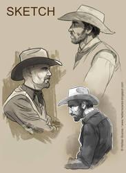 Cowboy_Sketch by HelberS