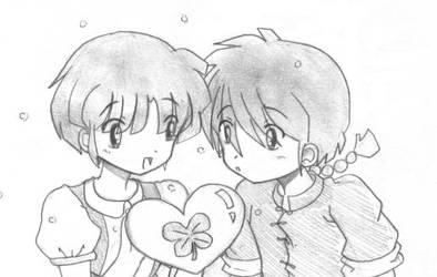 Ranma And Akane by yumiryuiko